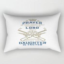 Mess With My Daughter Rectangular Pillow