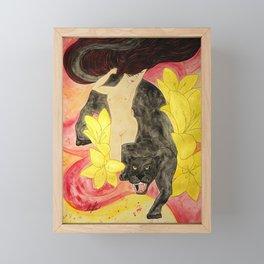 Panther Goddess Framed Mini Art Print