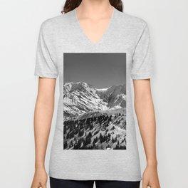 Mt. Blanc (Mono) Unisex V-Neck