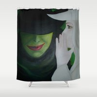 wicked Shower Curtains featuring Wicked by Jgarciat