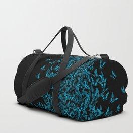 Blue butterflies Duffle Bag