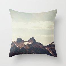 Mountain Ridge Morning Throw Pillow