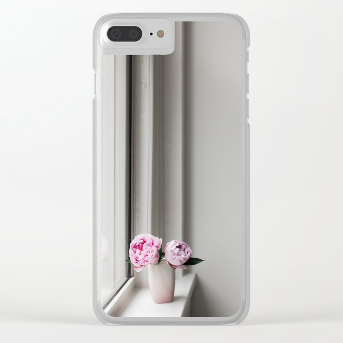 Pink Peonies 09 Clear iPhone Case