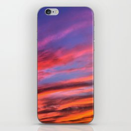 colorful clouds x iPhone Skin