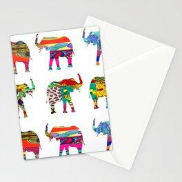 Bright & Bold Elephant Print Stationery Cards