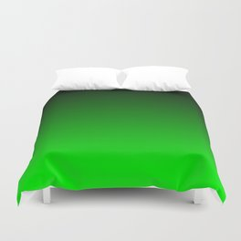 Black and Lime Gradient Duvet Cover