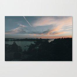 Sunset over Brännskär Canvas Print