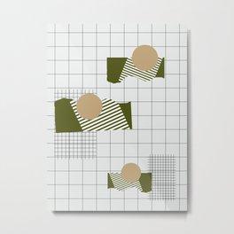 Checks Lines Grid Metal Print