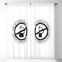 Say No To French Press Blackout Curtain