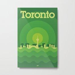 Toronto Minimalism Poster - Spring Green Metal Print