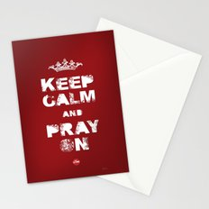 Keep Calm And Pray On Stationery Cards
