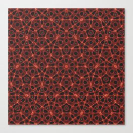 Blood Mandala Canvas Print
