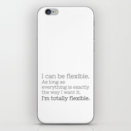 I'm totally flexible - GG Collection iPhone Skin