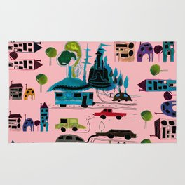 CityView pink Rug