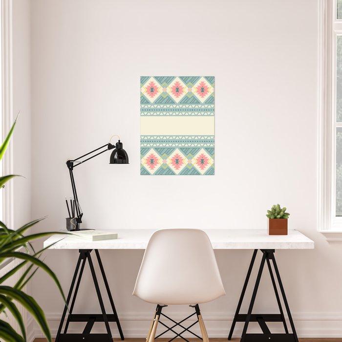 Colorful Geometric Boho Style 2 Poster