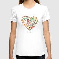 ukraine T-shirts featuring I Love Ukraine by Marina Zlochin