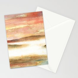Abstract Landscape Watercolor Art Stationery Cards