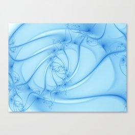Blue Spiral 2 Abstract Fractal Art Canvas Print