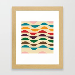 Summer waves Framed Art Print