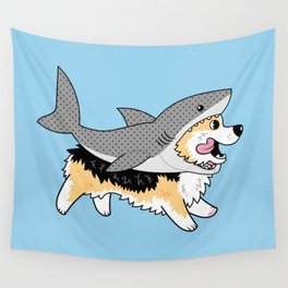 Another Corgi in a Shark Suit Wall Tapestry