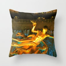 RockCenter Ambient Blue Throw Pillow