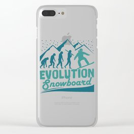 Evolution Snowboard Clear iPhone Case