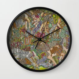 Horse in many languages Wall Clock