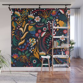 Floral seamless pattern Wall Mural