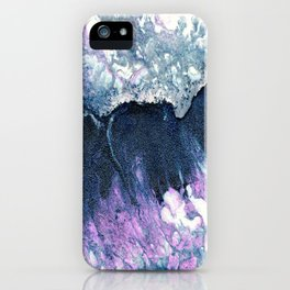 Dark Grey & Pink Abstract I iPhone Case