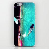 swim iPhone & iPod Skins featuring Swim by Katie Troisi