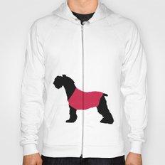 German Schnauzer Dog Print on Pink Hoody