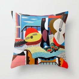 Pablo Picasso, Mandolin and Guitar (Mandoline et guitare) 1924 Artwork Throw Pillow