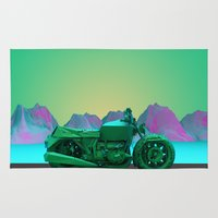 motorbike Area & Throw Rugs featuring motorbike by zKrajnc