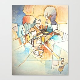 Cafe Society Canvas Print