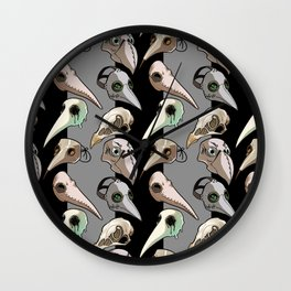 Plague Doctor's Wardrobe (bright masks) Wall Clock