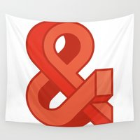 ampersand Wall Tapestries featuring Ampersand by Damien Faivre