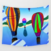 hot air balloons Wall Tapestries featuring Hot Air Balloons by Joynisha Sumpter