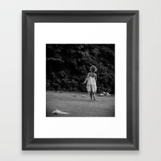 In Her Own Little World Framed Art Print