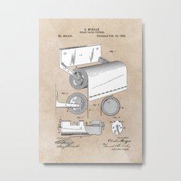 patent art Morgan Toilet paper fixture 1892 Metal Print