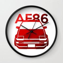 Toyota AE86 Hachi Roku - classic red - Wall Clock