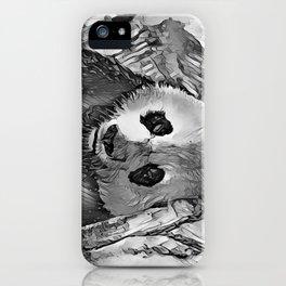 AnimalArtBW_Panda_20170602_by_JAMColorsSpecial iPhone Case
