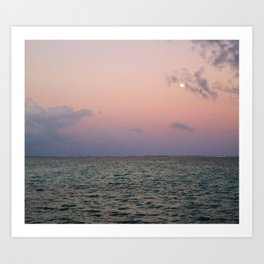Moon rising over San Pedro Art Print