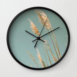 Beach Grass Blues Wall Clock