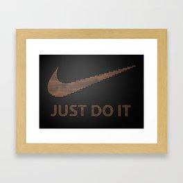 Just type it Framed Art Print