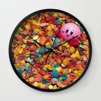 kirby Wall Clocks featuring Kirby Pebbles by Cody Ramsey