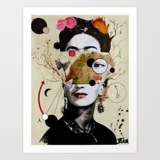 DECONSTRUCTED FRIDA Art Print