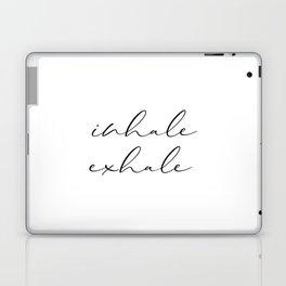 Inhale Exhale, Print, Motivation Wall Decor, Printable Art, Typography, Motivation Wall Decor Laptop & iPad Skin