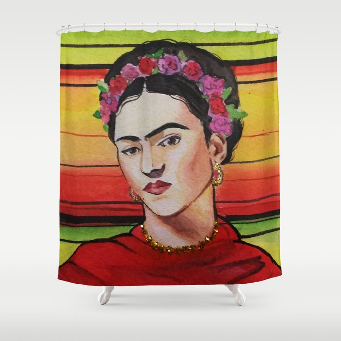 Portrait Of Frida Kahlo Shower Curtain