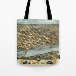 Map of Little Rock 1871 Tote Bag