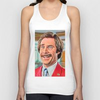 anchorman Tank Tops featuring ANCHORMAN by i live
